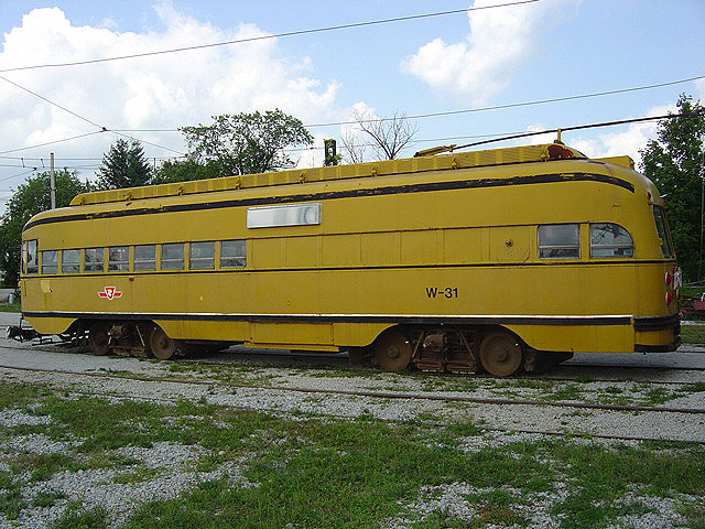 (144k, 640x480)<br><b>Country:</b> Canada<br><b>City:</b> Toronto<br><b>System:</b> Halton County Radial Railway <br><b>Car:</b> PCC (TTC Toronto) W-31 (ex-4668)<br><b>Photo by:</b> Michael Tricarico<br><b>Date:</b> 8/16/2004<br><b>Viewed (this week/total):</b> 2 / 2033