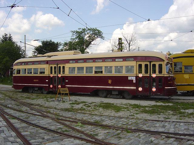 (123k, 640x480)<br><b>Country:</b> Canada<br><b>City:</b> Toronto<br><b>System:</b> Halton County Radial Railway <br><b>Car:</b> PCC (TTC Toronto) 4600 <br><b>Photo by:</b> Michael Tricarico<br><b>Date:</b> 8/16/2004<br><b>Viewed (this week/total):</b> 3 / 3640