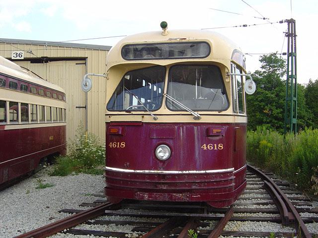 (119k, 640x480)<br><b>Country:</b> Canada<br><b>City:</b> Toronto<br><b>System:</b> Halton County Radial Railway <br><b>Car:</b> PCC (TTC Toronto) 4618 <br><b>Photo by:</b> Michael Tricarico<br><b>Date:</b> 8/16/2004<br><b>Viewed (this week/total):</b> 1 / 3461