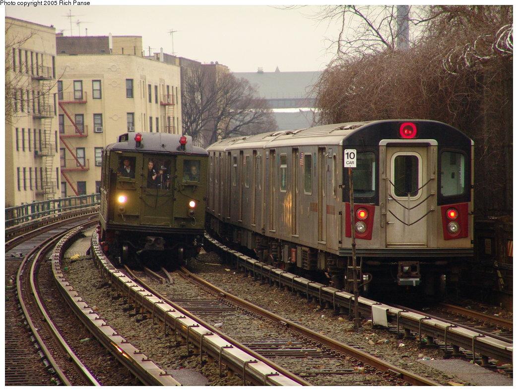 (245k, 1044x788)<br><b>Country:</b> United States<br><b>City:</b> New York<br><b>System:</b> New York City Transit<br><b>Line:</b> IRT Woodlawn Line<br><b>Location:</b> Bedford Park Boulevard <br><b>Route:</b> Fan Trip<br><b>Car:</b> Low-V (Museum Train) 5443 <br><b>Photo by:</b> Richard Panse<br><b>Date:</b> 3/20/2005<br><b>Viewed (this week/total):</b> 0 / 3330