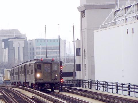 (72k, 480x359)<br><b>Country:</b> United States<br><b>City:</b> New York<br><b>System:</b> New York City Transit<br><b>Line:</b> IRT Woodlawn Line<br><b>Location:</b> 161st Street/River Avenue (Yankee Stadium) <br><b>Route:</b> Fan Trip<br><b>Car:</b> Low-V (Museum Train) 5443 <br><b>Photo by:</b> Irwin Markowitz<br><b>Date:</b> 3/20/2005<br><b>Viewed (this week/total):</b> 1 / 3123