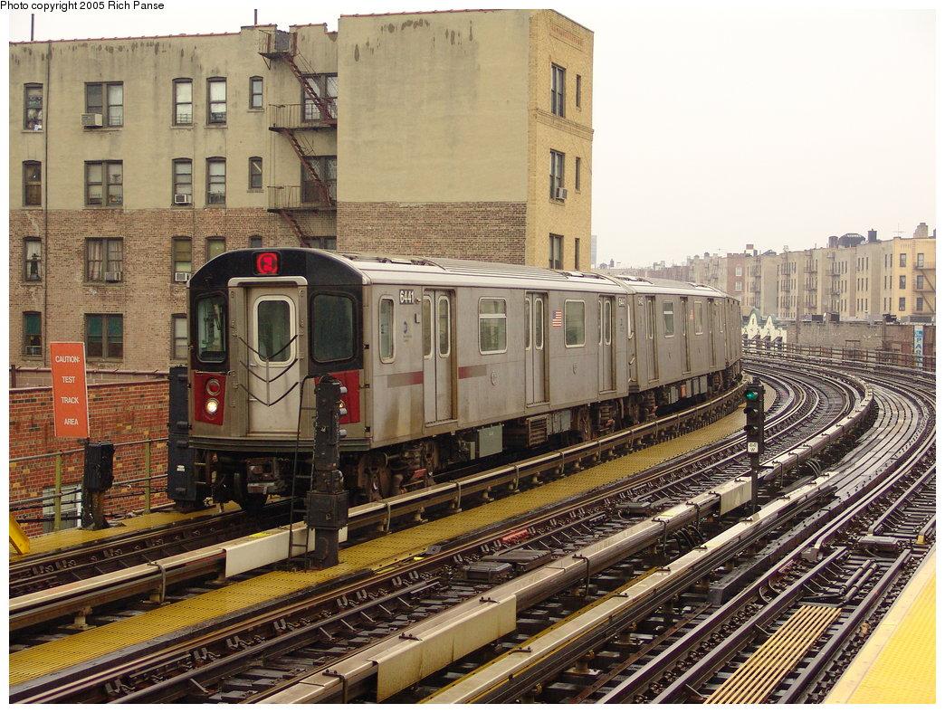 (262k, 1044x788)<br><b>Country:</b> United States<br><b>City:</b> New York<br><b>System:</b> New York City Transit<br><b>Line:</b> IRT White Plains Road Line<br><b>Location:</b> Bronx Park East <br><b>Route:</b> 2<br><b>Car:</b> R-142 (Primary Order, Bombardier, 1999-2002)  6441 <br><b>Photo by:</b> Richard Panse<br><b>Date:</b> 3/20/2005<br><b>Viewed (this week/total):</b> 1 / 4445