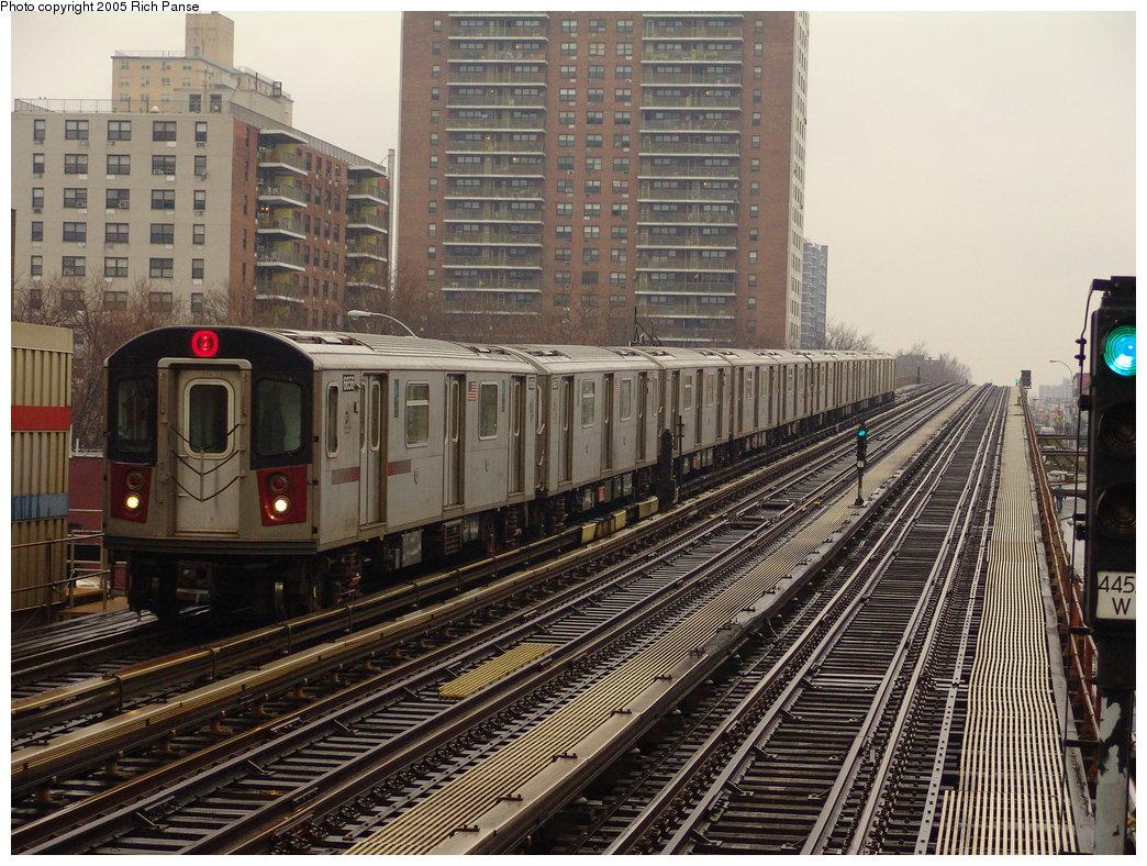 (256k, 1044x788)<br><b>Country:</b> United States<br><b>City:</b> New York<br><b>System:</b> New York City Transit<br><b>Line:</b> IRT White Plains Road Line<br><b>Location:</b> Pelham Parkway <br><b>Route:</b> 2<br><b>Car:</b> R-142 (Primary Order, Bombardier, 1999-2002)  6656 <br><b>Photo by:</b> Richard Panse<br><b>Date:</b> 3/20/2005<br><b>Viewed (this week/total):</b> 0 / 4770