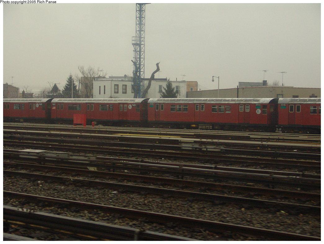 (161k, 1044x788)<br><b>Country:</b> United States<br><b>City:</b> New York<br><b>System:</b> New York City Transit<br><b>Location:</b> Unionport Yard<br><b>Car:</b> R-36 World's Fair (St. Louis, 1963-64) 9401 <br><b>Photo by:</b> Richard Panse<br><b>Date:</b> 3/20/2005<br><b>Notes:</b> With R26 7775<br><b>Viewed (this week/total):</b> 1 / 3388
