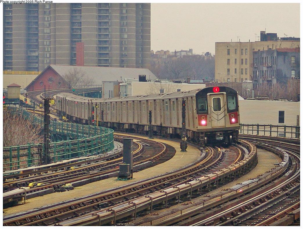 (393k, 1044x788)<br><b>Country:</b> United States<br><b>City:</b> New York<br><b>System:</b> New York City Transit<br><b>Line:</b> IRT Woodlawn Line<br><b>Location:</b> Bedford Park Boulevard <br><b>Route:</b> 4<br><b>Car:</b> R-142 (Option Order, Bombardier, 2002-2003)  7146 <br><b>Photo by:</b> Richard Panse<br><b>Date:</b> 3/20/2005<br><b>Viewed (this week/total):</b> 0 / 4482