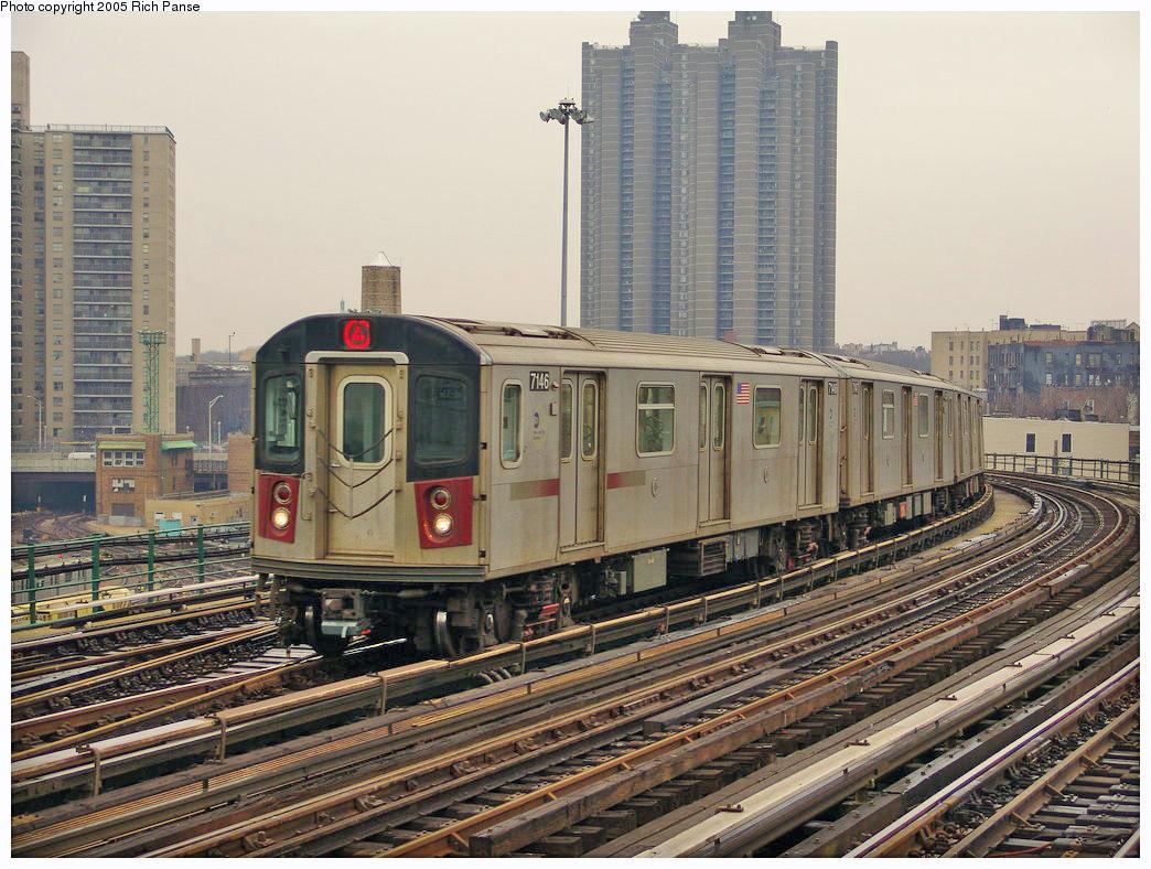 (338k, 1044x788)<br><b>Country:</b> United States<br><b>City:</b> New York<br><b>System:</b> New York City Transit<br><b>Line:</b> IRT Woodlawn Line<br><b>Location:</b> Bedford Park Boulevard <br><b>Route:</b> 4<br><b>Car:</b> R-142 (Option Order, Bombardier, 2002-2003)  7146 <br><b>Photo by:</b> Richard Panse<br><b>Date:</b> 3/20/2005<br><b>Viewed (this week/total):</b> 0 / 3183