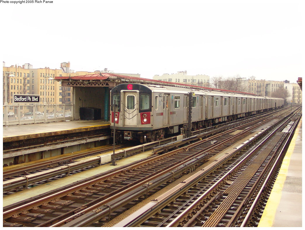 (235k, 1044x788)<br><b>Country:</b> United States<br><b>City:</b> New York<br><b>System:</b> New York City Transit<br><b>Line:</b> IRT Woodlawn Line<br><b>Location:</b> Bedford Park Boulevard <br><b>Route:</b> 4<br><b>Car:</b> R-142 (Option Order, Bombardier, 2002-2003)  7141 <br><b>Photo by:</b> Richard Panse<br><b>Date:</b> 3/20/2005<br><b>Viewed (this week/total):</b> 0 / 3436