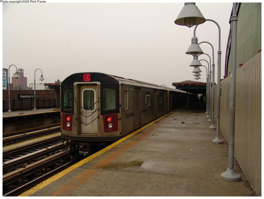 (159k, 1044x788)<br><b>Country:</b> United States<br><b>City:</b> New York<br><b>System:</b> New York City Transit<br><b>Line:</b> IRT Woodlawn Line<br><b>Location:</b> Kingsbridge Road <br><b>Route:</b> 4<br><b>Car:</b> R-142 (Option Order, Bombardier, 2002-2003)  1130 <br><b>Photo by:</b> Richard Panse<br><b>Date:</b> 3/20/2005<br><b>Viewed (this week/total):</b> 0 / 4733