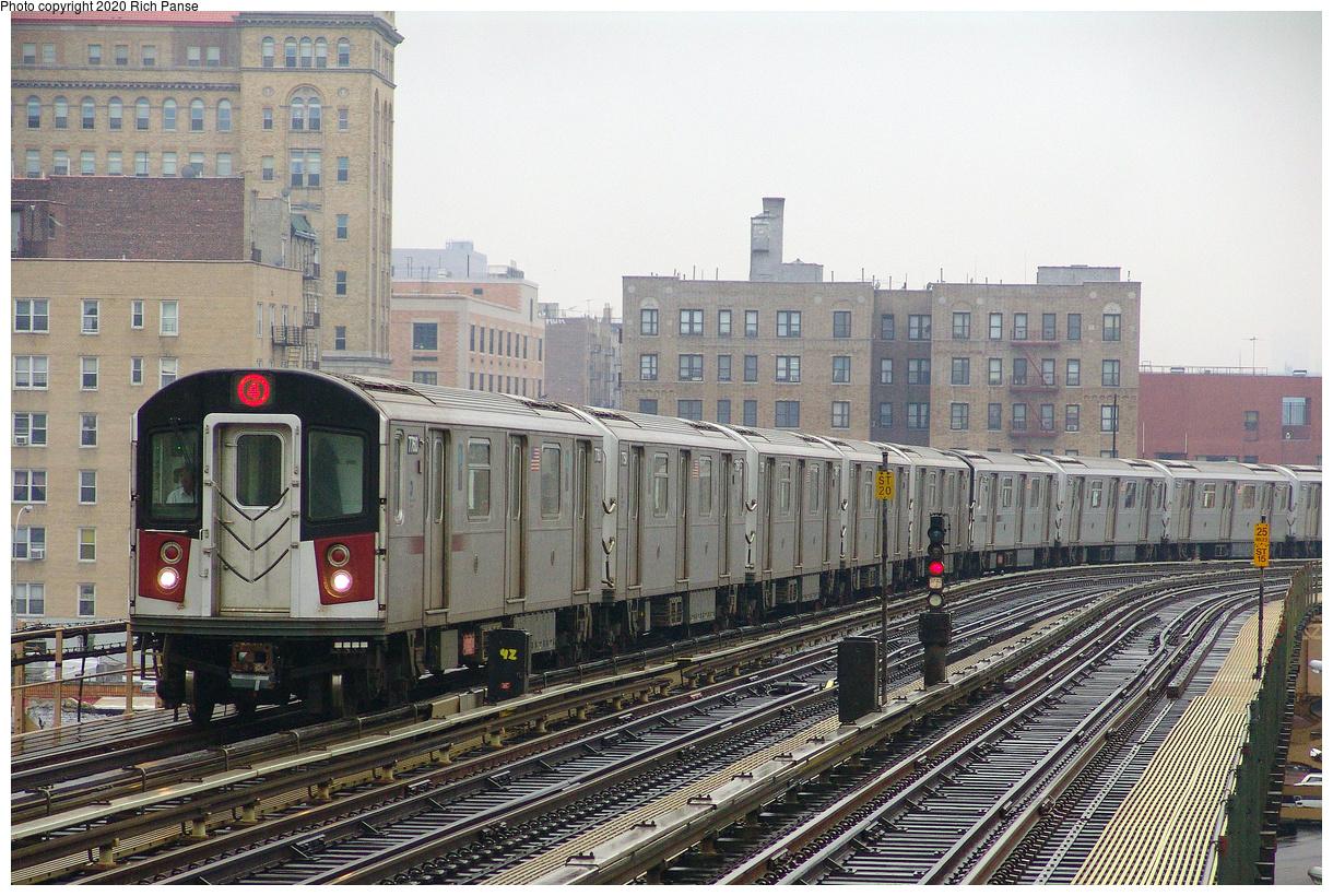 (247k, 1044x788)<br><b>Country:</b> United States<br><b>City:</b> New York<br><b>System:</b> New York City Transit<br><b>Line:</b> IRT Woodlawn Line<br><b>Location:</b> 170th Street <br><b>Route:</b> 4<br><b>Car:</b> R-142A (Supplemental Order, Kawasaki, 2003-2004)  7760 <br><b>Photo by:</b> Richard Panse<br><b>Date:</b> 3/20/2005<br><b>Viewed (this week/total):</b> 0 / 4180