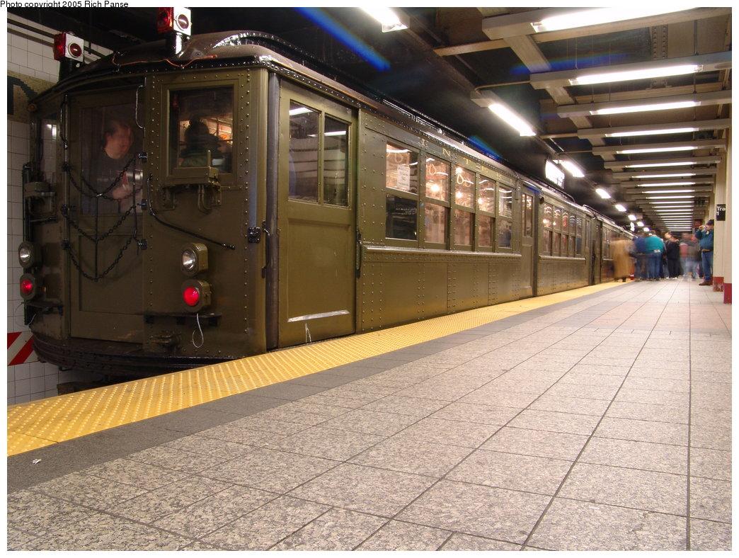 (225k, 1044x788)<br><b>Country:</b> United States<br><b>City:</b> New York<br><b>System:</b> New York City Transit<br><b>Line:</b> IRT Times Square-Grand Central Shuttle<br><b>Location:</b> Grand Central <br><b>Route:</b> Fan Trip<br><b>Car:</b> Low-V (Museum Train) 5443 <br><b>Photo by:</b> Richard Panse<br><b>Date:</b> 3/20/2005<br><b>Viewed (this week/total):</b> 2 / 2986