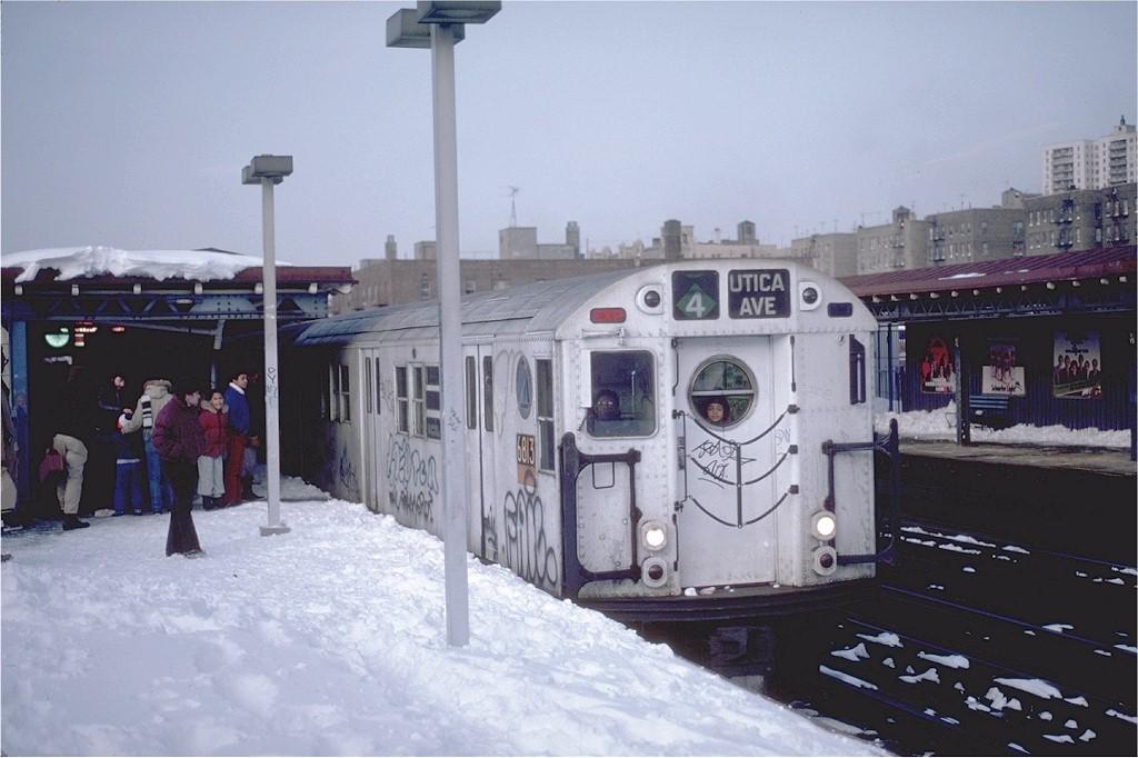 (162k, 1024x682)<br><b>Country:</b> United States<br><b>City:</b> New York<br><b>System:</b> New York City Transit<br><b>Line:</b> IRT Woodlawn Line<br><b>Location:</b> 161st Street/River Avenue (Yankee Stadium) <br><b>Route:</b> 4<br><b>Car:</b> R-17 (St. Louis, 1955-56) 6813 <br><b>Photo by:</b> Steve Zabel<br><b>Collection of:</b> Joe Testagrose<br><b>Date:</b> 2/12/1983<br><b>Viewed (this week/total):</b> 3 / 6305