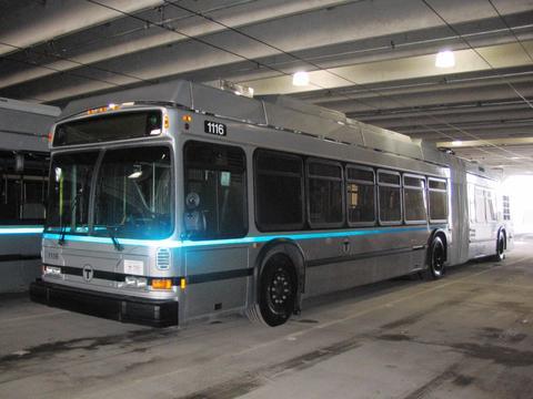 (28k, 480x360)<br><b>Country:</b> United States<br><b>City:</b> Boston, MA<br><b>System:</b> MBTA<br><b>Line:</b> MBTA Silver Line (Phase II)<br><b>Car:</b> MBTA 1116 <br><b>Photo by:</b> John Parise<br><b>Date:</b> 2004<br><b>Viewed (this week/total):</b> 2 / 4089
