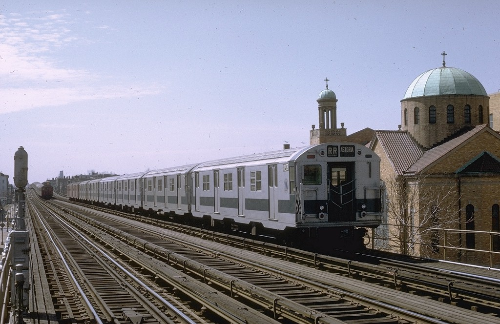 (207k, 1024x664)<br><b>Country:</b> United States<br><b>City:</b> New York<br><b>System:</b> New York City Transit<br><b>Line:</b> BMT Astoria Line<br><b>Location:</b> 30th/Grand Aves. <br><b>Route:</b> RR<br><b>Car:</b> R-27 (St. Louis, 1960)  8208 <br><b>Photo by:</b> Joe Testagrose<br><b>Date:</b> 3/28/1971<br><b>Viewed (this week/total):</b> 0 / 2808