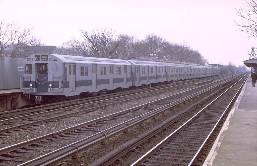 (206k, 1024x662)<br><b>Country:</b> United States<br><b>City:</b> New York<br><b>System:</b> New York City Transit<br><b>Line:</b> BMT Brighton Line<br><b>Location:</b> Avenue J <br><b>Route:</b> QJ<br><b>Car:</b> R-27 (St. Louis, 1960)  8214 <br><b>Photo by:</b> Doug Grotjahn<br><b>Collection of:</b> Joe Testagrose<br><b>Date:</b> 3/31/1971<br><b>Viewed (this week/total):</b> 0 / 2908
