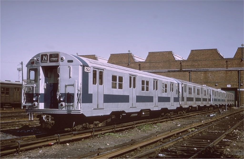 (185k, 1024x668)<br><b>Country:</b> United States<br><b>City:</b> New York<br><b>System:</b> New York City Transit<br><b>Location:</b> Coney Island Yard<br><b>Car:</b> R-27 (St. Louis, 1960)  8220 <br><b>Photo by:</b> Joe Testagrose<br><b>Date:</b> 5/4/1971<br><b>Viewed (this week/total):</b> 3 / 2828