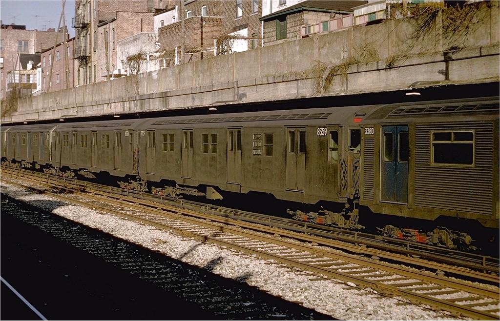 (263k, 1024x658)<br><b>Country:</b> United States<br><b>City:</b> New York<br><b>System:</b> New York City Transit<br><b>Line:</b> BMT Sea Beach Line<br><b>Location:</b> Bay Parkway (22nd Avenue) <br><b>Route:</b> N<br><b>Car:</b> R-30 (St. Louis, 1961) 8359 <br><b>Photo by:</b> Doug Grotjahn<br><b>Collection of:</b> Joe Testagrose<br><b>Date:</b> 1/12/1969<br><b>Viewed (this week/total):</b> 0 / 3614