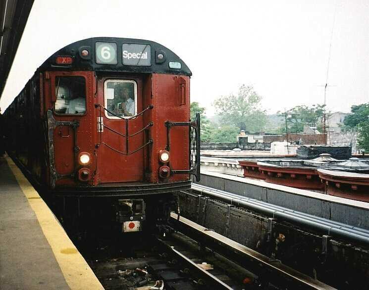 (45k, 745x586)<br><b>Country:</b> United States<br><b>City:</b> New York<br><b>System:</b> New York City Transit<br><b>Line:</b> IRT Brooklyn Line<br><b>Location:</b> New Lots Avenue <br><b>Route:</b> Fan Trip<br><b>Car:</b> R-33 World's Fair (St. Louis, 1963-64) 9329 <br><b>Photo by:</b> Gary Chatterton<br><b>Date:</b> 6/7/2003<br><b>Viewed (this week/total):</b> 1 / 4865