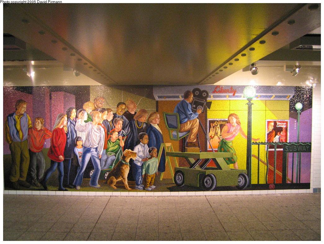 (224k, 1044x788)<br><b>Country:</b> United States<br><b>City:</b> New York<br><b>System:</b> New York City Transit<br><b>Line:</b> IRT West Side Line<br><b>Location:</b> Times Square/42nd Street <br><b>Photo by:</b> David Pirmann<br><b>Date:</b> 9/6/2005<br><b>Artwork:</b> <i>The Return of Spring/The Onset of Winter</i>, Jack Beal (1999).<br><b>Notes:</b> <i>Onset of Winter</i> panel.<br><b>Viewed (this week/total):</b> 4 / 4052