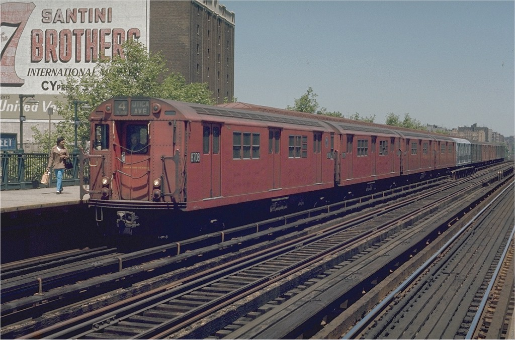 (220k, 1024x677)<br><b>Country:</b> United States<br><b>City:</b> New York<br><b>System:</b> New York City Transit<br><b>Line:</b> IRT Woodlawn Line<br><b>Location:</b> 170th Street <br><b>Route:</b> 4<br><b>Car:</b> R-29 (St. Louis, 1962) 8708 <br><b>Photo by:</b> Joe Testagrose<br><b>Date:</b> 5/30/1970<br><b>Viewed (this week/total):</b> 4 / 2358