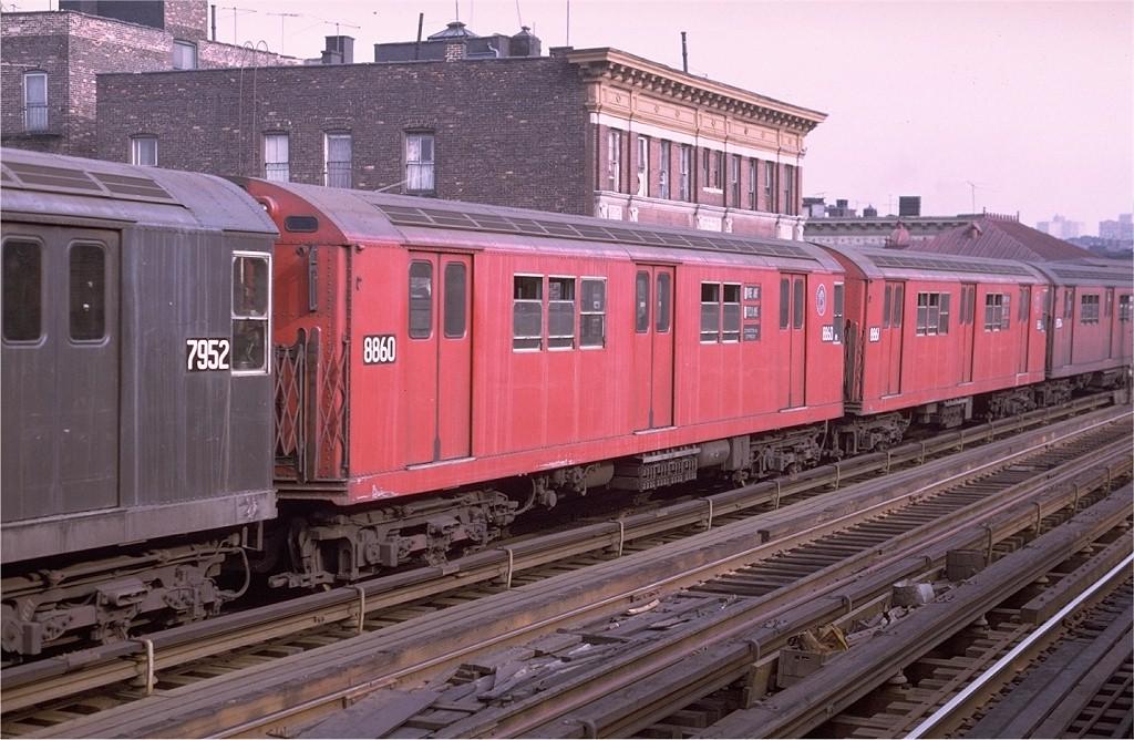 (209k, 1024x668)<br><b>Country:</b> United States<br><b>City:</b> New York<br><b>System:</b> New York City Transit<br><b>Line:</b> IRT White Plains Road Line<br><b>Location:</b> Freeman Street <br><b>Route:</b> 5<br><b>Car:</b> R-33 Main Line (St. Louis, 1962-63) 8860 <br><b>Photo by:</b> Joe Testagrose<br><b>Date:</b> 8/19/1969<br><b>Viewed (this week/total):</b> 1 / 2478