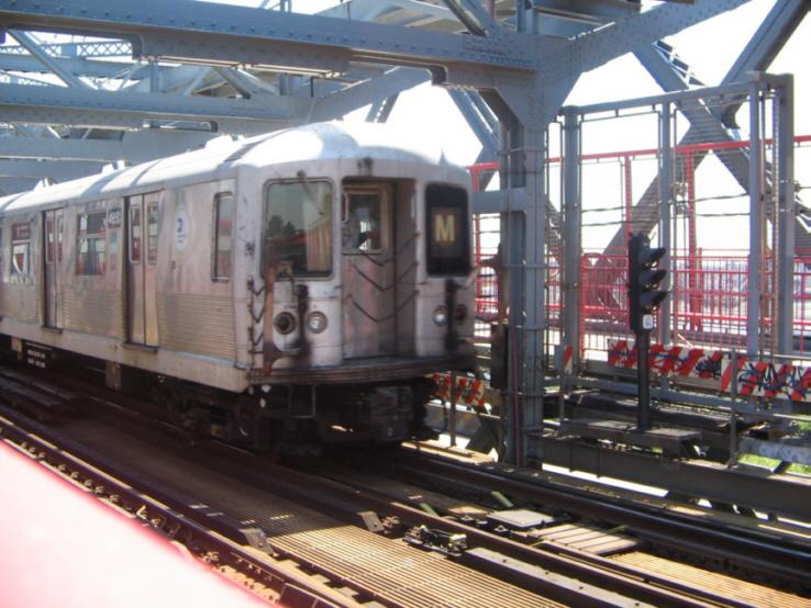 (243k, 738x554)<br><b>Country:</b> United States<br><b>City:</b> New York<br><b>System:</b> New York City Transit<br><b>Line:</b> BMT Nassau Street/Jamaica Line<br><b>Location:</b> Williamsburg Bridge<br><b>Route:</b> M<br><b>Car:</b> R-42 (St. Louis, 1969-1970)  4851 <br><b>Photo by:</b> Jose Martinez<br><b>Date:</b> 5/27/2005<br><b>Viewed (this week/total):</b> 0 / 3830