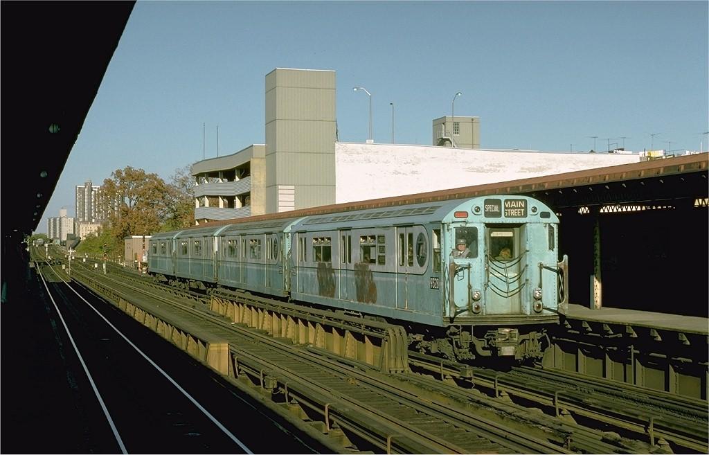 (174k, 1024x657)<br><b>Country:</b> United States<br><b>City:</b> New York<br><b>System:</b> New York City Transit<br><b>Line:</b> IRT Woodlawn Line<br><b>Location:</b> Fordham Road <br><b>Route:</b> Fan Trip<br><b>Car:</b> R-33 World's Fair (St. Louis, 1963-64) 9328 <br><b>Photo by:</b> Joe Testagrose<br><b>Date:</b> 10/27/1974<br><b>Viewed (this week/total):</b> 0 / 3030