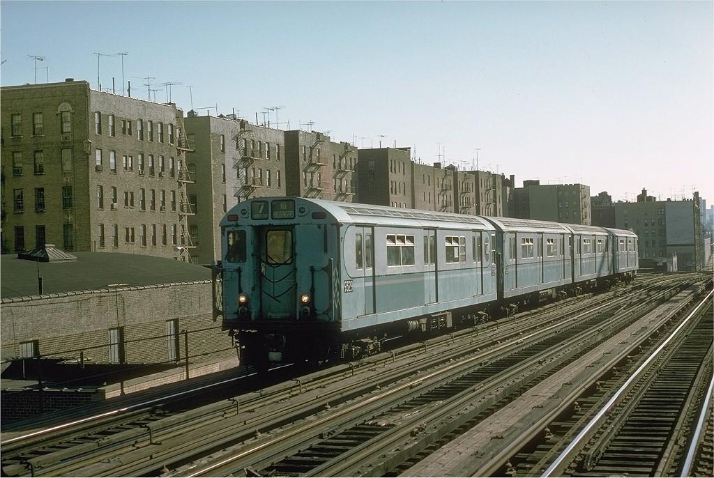 (233k, 1024x686)<br><b>Country:</b> United States<br><b>City:</b> New York<br><b>System:</b> New York City Transit<br><b>Line:</b> IRT Woodlawn Line<br><b>Location:</b> 161st Street/River Avenue (Yankee Stadium) <br><b>Route:</b> Fan Trip<br><b>Car:</b> R-33 World's Fair (St. Louis, 1963-64) 9329 <br><b>Photo by:</b> Joe Testagrose<br><b>Date:</b> 10/27/1974<br><b>Viewed (this week/total):</b> 0 / 2867