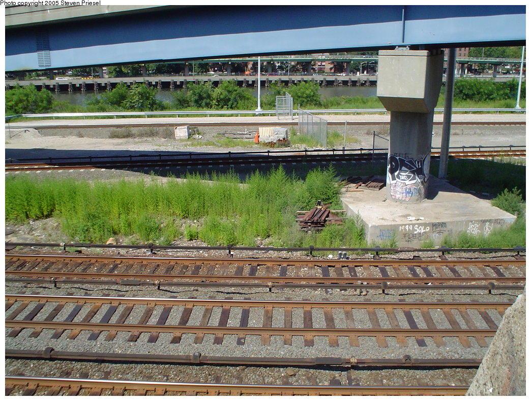 (231k, 1044x788)<br><b>Country:</b> United States<br><b>City:</b> New York<br><b>System:</b> New York City Transit<br><b>Line:</b> 9th Avenue El<br><b>Location:</b> Sedgwick Avenue <br><b>Photo by:</b> Steven Priesel<br><b>Date:</b> 8/8/2004<br><b>Notes:</b> Watch your step, it's a long drop!<br><b>Viewed (this week/total):</b> 3 / 4119
