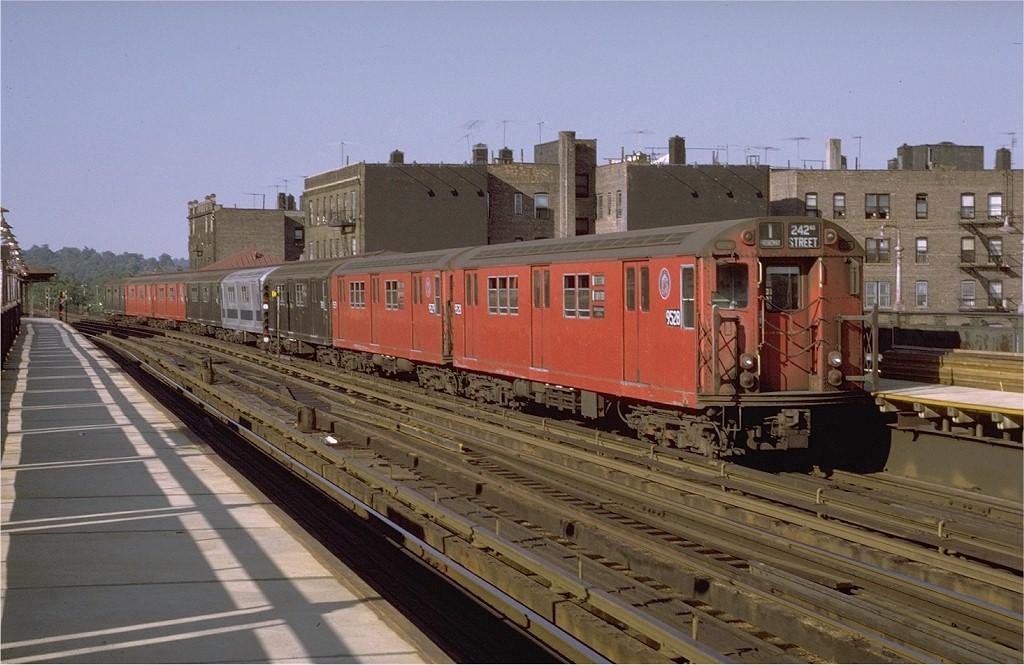 (189k, 1024x665)<br><b>Country:</b> United States<br><b>City:</b> New York<br><b>System:</b> New York City Transit<br><b>Line:</b> IRT West Side Line<br><b>Location:</b> 238th Street <br><b>Route:</b> 1<br><b>Car:</b> R-36 Main Line (St. Louis, 1964) 9528 <br><b>Photo by:</b> Joe Testagrose<br><b>Date:</b> 8/14/1971<br><b>Viewed (this week/total):</b> 1 / 2511