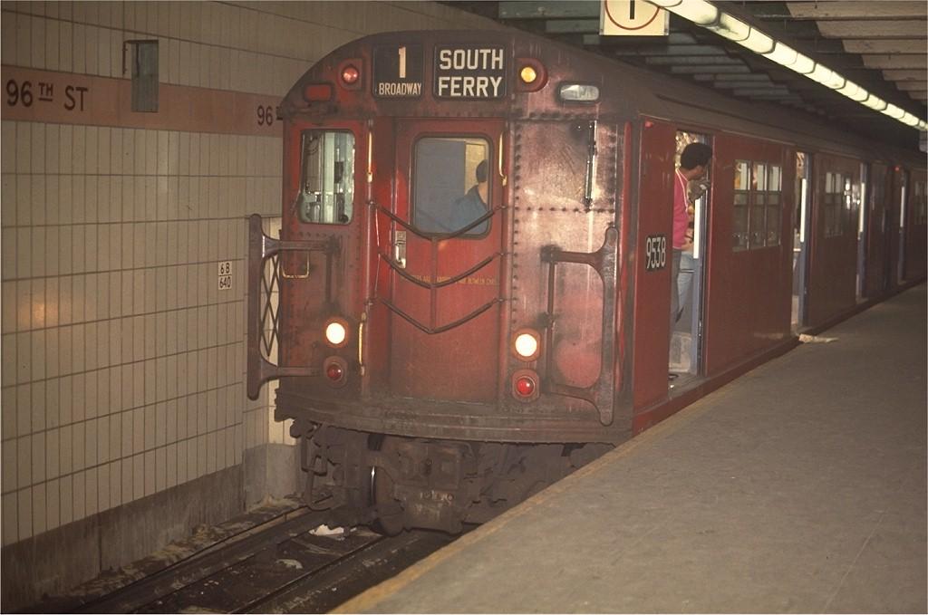 (151k, 1024x679)<br><b>Country:</b> United States<br><b>City:</b> New York<br><b>System:</b> New York City Transit<br><b>Line:</b> IRT West Side Line<br><b>Location:</b> 96th Street <br><b>Route:</b> 7<br><b>Car:</b> R-36 Main Line (St. Louis, 1964) 9538 <br><b>Photo by:</b> Joe Testagrose<br><b>Date:</b> 5/2/1970<br><b>Viewed (this week/total):</b> 2 / 2492