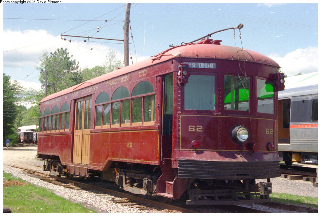 (220k, 1044x702)<br><b>Country:</b> United States<br><b>City:</b> Kennebunk, ME<br><b>System:</b> Seashore Trolley Museum <br><b>Car:</b> PSTC Center Entrance Interurban (J.G. Brill, 1926)  62 <br><b>Photo by:</b> David Pirmann<br><b>Date:</b> 5/25/1996<br><b>Viewed (this week/total):</b> 1 / 1825