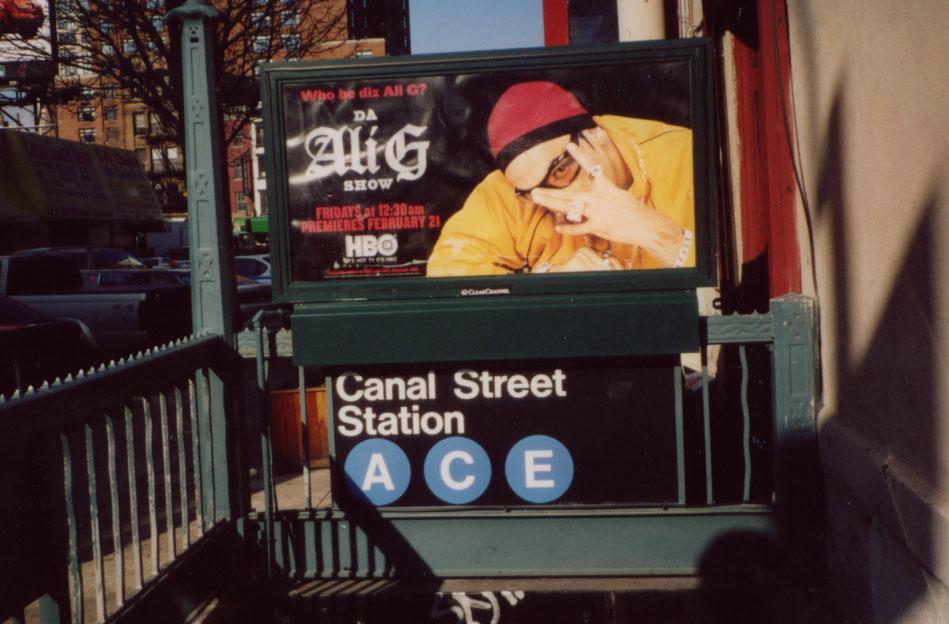 (114k, 949x624)<br><b>Country:</b> United States<br><b>City:</b> New York<br><b>System:</b> New York City Transit<br><b>Line:</b> IND 8th Avenue Line<br><b>Location:</b> Canal Street-Holland Tunnel <br><b>Photo by:</b> Kevin Wong<br><b>Date:</b> 3/16/2003<br><b>Viewed (this week/total):</b> 0 / 3562