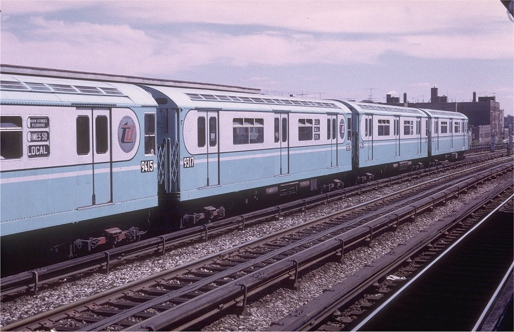 (213k, 1024x663)<br><b>Country:</b> United States<br><b>City:</b> New York<br><b>System:</b> New York City Transit<br><b>Line:</b> IRT Flushing Line<br><b>Location:</b> 40th Street/Lowery Street <br><b>Route:</b> 7<br><b>Car:</b> R-33 World's Fair (St. Louis, 1963-64) 9317 <br><b>Photo by:</b> Doug Grotjahn<br><b>Collection of:</b> Joe Testagrose<br><b>Date:</b> 9/4/1972<br><b>Viewed (this week/total):</b> 0 / 3260