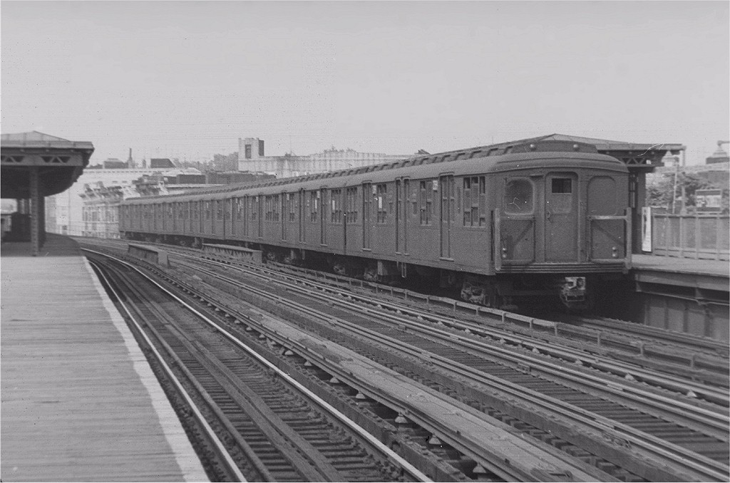 (171k, 1024x678)<br><b>Country:</b> United States<br><b>City:</b> New York<br><b>System:</b> New York City Transit<br><b>Line:</b> BMT West End Line<br><b>Location:</b> 55th Street <br><b>Car:</b> BMT A/B-Type Standard  <br><b>Photo by:</b> Harry Pinsker<br><b>Date:</b> 8/1958<br><b>Viewed (this week/total):</b> 0 / 2807