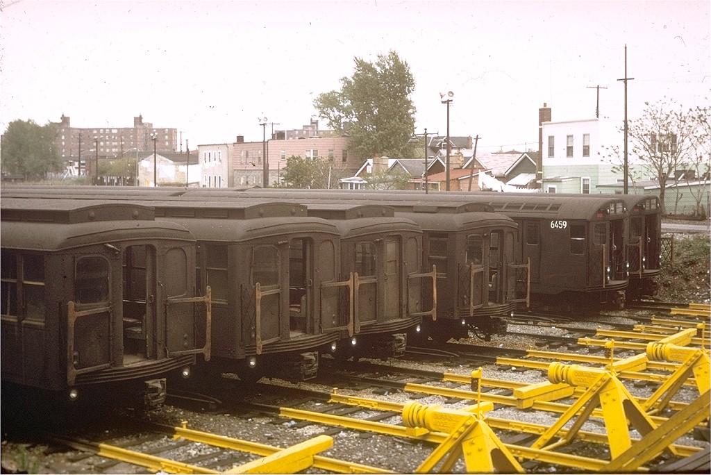 (216k, 1024x684)<br><b>Country:</b> United States<br><b>City:</b> New York<br><b>System:</b> New York City Transit<br><b>Location:</b> Rockaway Parkway (Canarsie) Yard<br><b>Car:</b> BMT A/B-Type Standard  <br><b>Collection of:</b> Joe Testagrose<br><b>Date:</b> 6/1966<br><b>Viewed (this week/total):</b> 1 / 3424