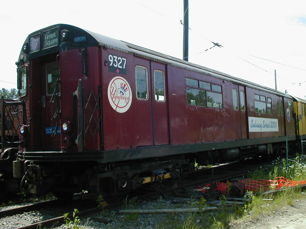 (113k, 1024x768)<br><b>Country:</b> United States<br><b>City:</b> Kennebunk, ME<br><b>System:</b> Seashore Trolley Museum<br><b>Car:</b> R-33 World's Fair (St. Louis, 1963-64) 9327 <br><b>Photo by:</b> Todd Glickman<br><b>Date:</b> 6/24/2005<br><b>Viewed (this week/total):</b> 1 / 6217
