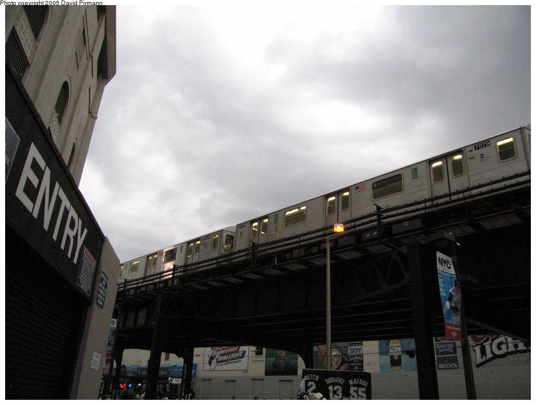 (134k, 1044x788)<br><b>Country:</b> United States<br><b>City:</b> New York<br><b>System:</b> New York City Transit<br><b>Line:</b> IRT Woodlawn Line<br><b>Location:</b> 161st Street/River Avenue (Yankee Stadium) <br><b>Car:</b> R-142 (Option Order, Bombardier, 2002-2003)  7079 <br><b>Photo by:</b> David Pirmann<br><b>Date:</b> 6/22/2005<br><b>Viewed (this week/total):</b> 1 / 5313