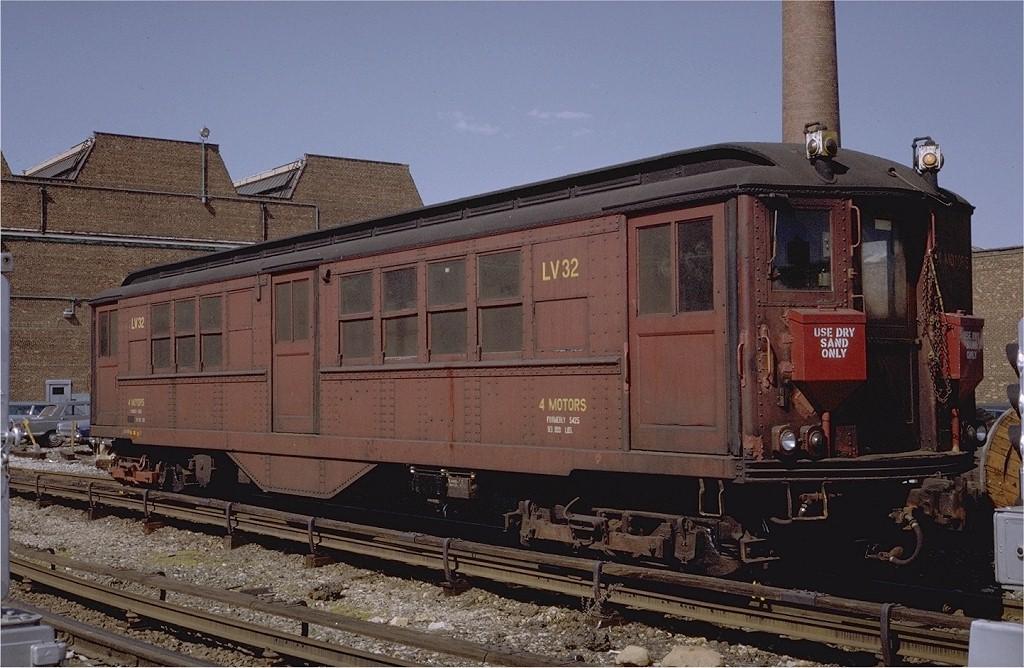 (206k, 1024x668)<br><b>Country:</b> United States<br><b>City:</b> New York<br><b>System:</b> New York City Transit<br><b>Location:</b> Coney Island Yard<br><b>Car:</b> Low-V LV32 (ex-5425)<br><b>Photo by:</b> Steve Zabel<br><b>Collection of:</b> Joe Testagrose<br><b>Date:</b> 4/23/1971<br><b>Viewed (this week/total):</b> 0 / 1919