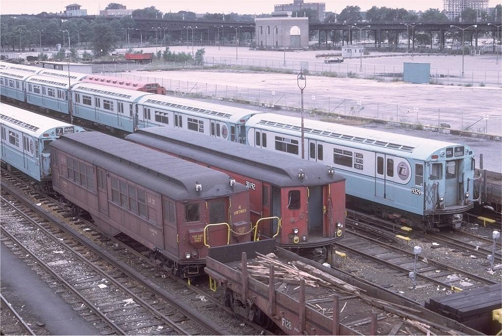 (271k, 1024x685)<br><b>Country:</b> United States<br><b>City:</b> New York<br><b>System:</b> New York City Transit<br><b>Location:</b> Corona Yard<br><b>Car:</b> Low-V LV35 (ex-5485)<br><b>Photo by:</b> Doug Grotjahn<br><b>Collection of:</b> Joe Testagrose<br><b>Date:</b> 9/24/1972<br><b>Viewed (this week/total):</b> 2 / 2921