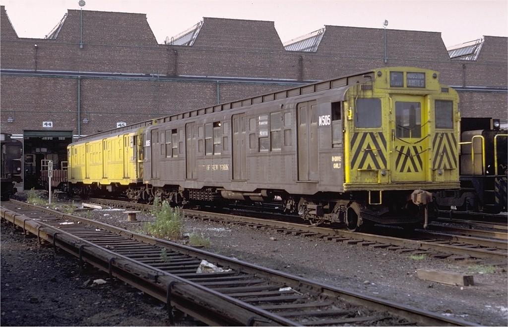 (221k, 1024x660)<br><b>Country:</b> United States<br><b>City:</b> New York<br><b>System:</b> New York City Transit<br><b>Location:</b> Coney Island Yard<br><b>Car:</b> R-4 (American Car & Foundry, 1932-1933) M505 (ex-480)<br><b>Photo by:</b> Doug Grotjahn<br><b>Collection of:</b> Joe Testagrose<br><b>Date:</b> 6/27/1971<br><b>Viewed (this week/total):</b> 3 / 2095