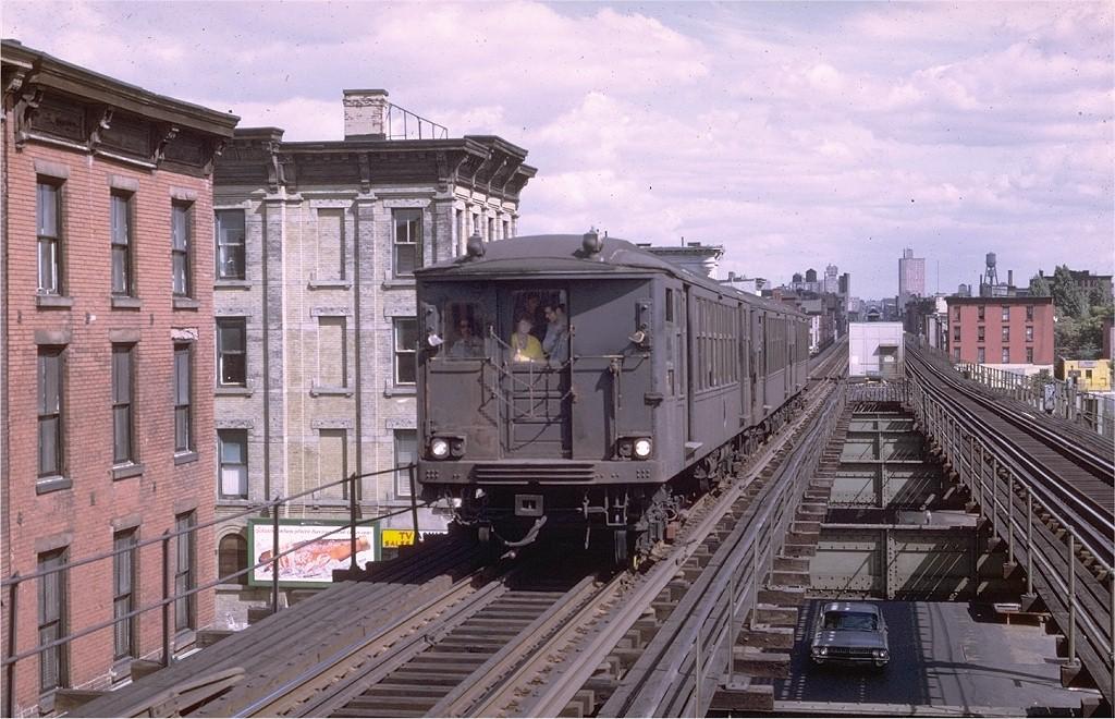 (225k, 1024x660)<br><b>Country:</b> United States<br><b>City:</b> New York<br><b>System:</b> New York City Transit<br><b>Line:</b> BMT Myrtle Avenue Line<br><b>Location:</b> Washington Avenue <br><b>Route:</b> MJ<br><b>Car:</b> BMT Q  <br><b>Photo by:</b> Joe Testagrose<br><b>Date:</b> 9/20/1969<br><b>Viewed (this week/total):</b> 0 / 5137