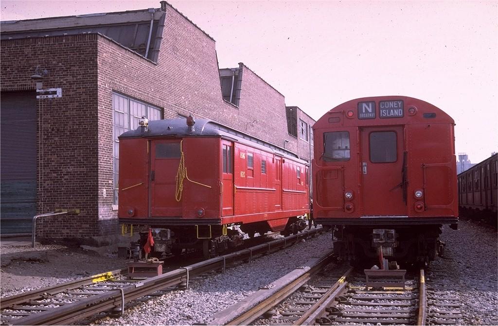 (229k, 1024x671)<br><b>Country:</b> United States<br><b>City:</b> New York<br><b>System:</b> New York City Transit<br><b>Location:</b> Coney Island Yard<br><b>Car:</b> Low-V R246 (ex-5488)<br><b>Photo by:</b> Joe Testagrose<br><b>Date:</b> 4/6/1969<br><b>Viewed (this week/total):</b> 0 / 2888