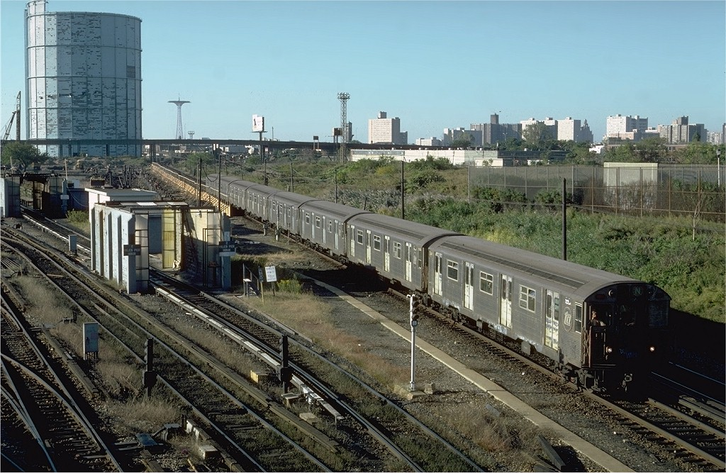 (252k, 1024x667)<br><b>Country:</b> United States<br><b>City:</b> New York<br><b>System:</b> New York City Transit<br><b>Location:</b> Coney Island Yard<br><b>Car:</b> R-32 (Budd, 1964)   <br><b>Photo by:</b> Steve Zabel<br><b>Collection of:</b> Joe Testagrose<br><b>Date:</b> 10/9/1981<br><b>Viewed (this week/total):</b> 3 / 4684