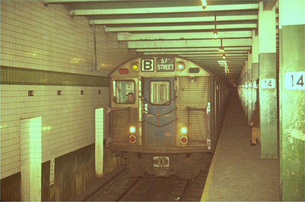 (180k, 1024x678)<br><b>Country:</b> United States<br><b>City:</b> New York<br><b>System:</b> New York City Transit<br><b>Line:</b> IND 6th Avenue Line<br><b>Location:</b> 14th Street <br><b>Route:</b> B<br><b>Car:</b> R-32 (Budd, 1964)   <br><b>Collection of:</b> Joe Testagrose<br><b>Viewed (this week/total):</b> 3 / 4701