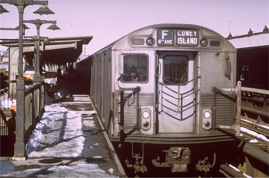 (200k, 1024x678)<br><b>Country:</b> United States<br><b>City:</b> New York<br><b>System:</b> New York City Transit<br><b>Line:</b> BMT Culver Line<br><b>Location:</b> Ditmas Avenue <br><b>Route:</b> F<br><b>Car:</b> R-38 (St. Louis, 1966-1967)   <br><b>Photo by:</b> Ed Bacher<br><b>Collection of:</b> Joe Testagrose<br><b>Date:</b> 1969<br><b>Viewed (this week/total):</b> 0 / 4264