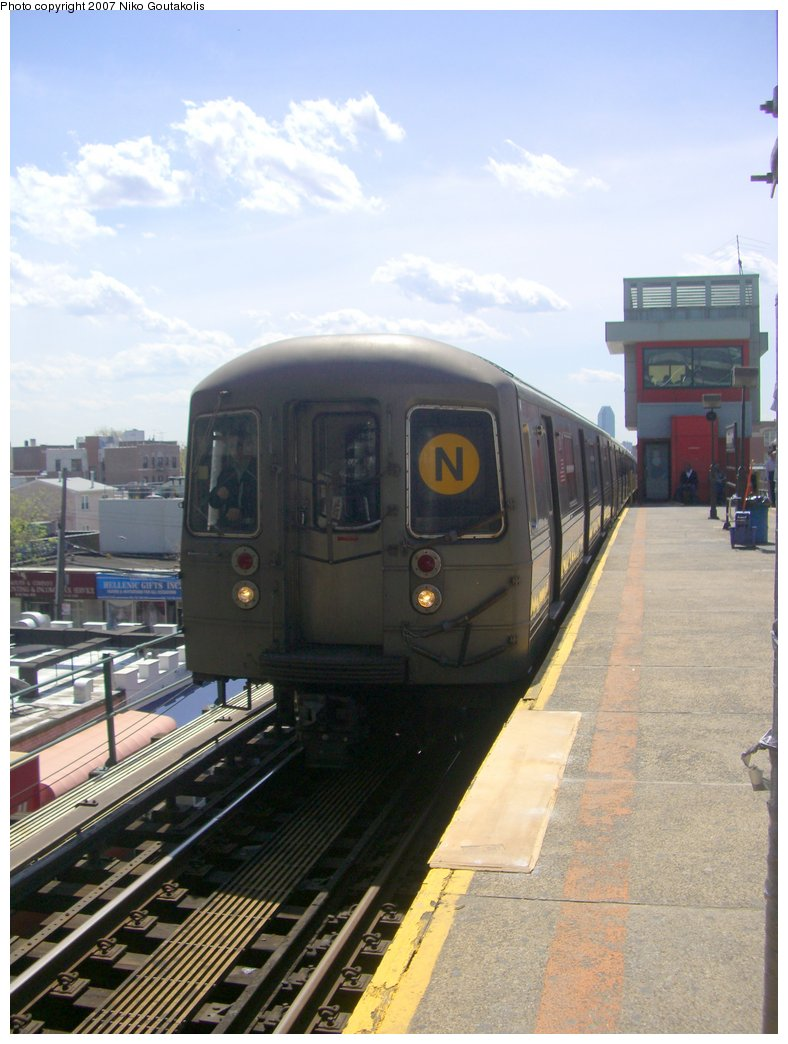 (174k, 788x1044)<br><b>Country:</b> United States<br><b>City:</b> New York<br><b>System:</b> New York City Transit<br><b>Line:</b> BMT Astoria Line<br><b>Location:</b> Ditmars Boulevard <br><b>Route:</b> N<br><b>Car:</b> R-68/R-68A Series (Number Unknown)  <br><b>Photo by:</b> Niko Goutakolis<br><b>Date:</b> 4/30/2007<br><b>Viewed (this week/total):</b> 3 / 3413