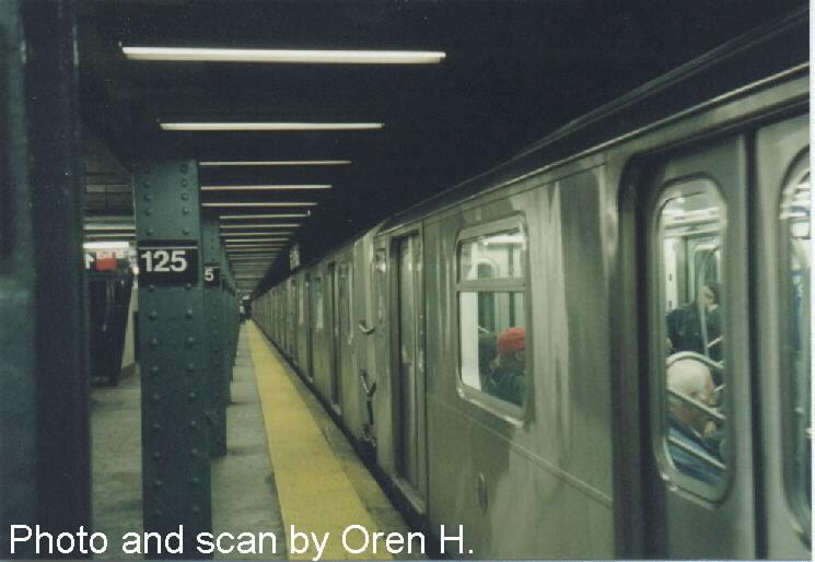(49k, 745x514)<br><b>Country:</b> United States<br><b>City:</b> New York<br><b>System:</b> New York City Transit<br><b>Line:</b> IRT East Side Line<br><b>Location:</b> 125th Street <br><b>Route:</b> 6<br><b>Car:</b> R-142A (Primary Order, Kawasaki, 1999-2002)  7239 <br><b>Photo by:</b> Oren H.<br><b>Date:</b> 5/8/2001<br><b>Viewed (this week/total):</b> 0 / 5128