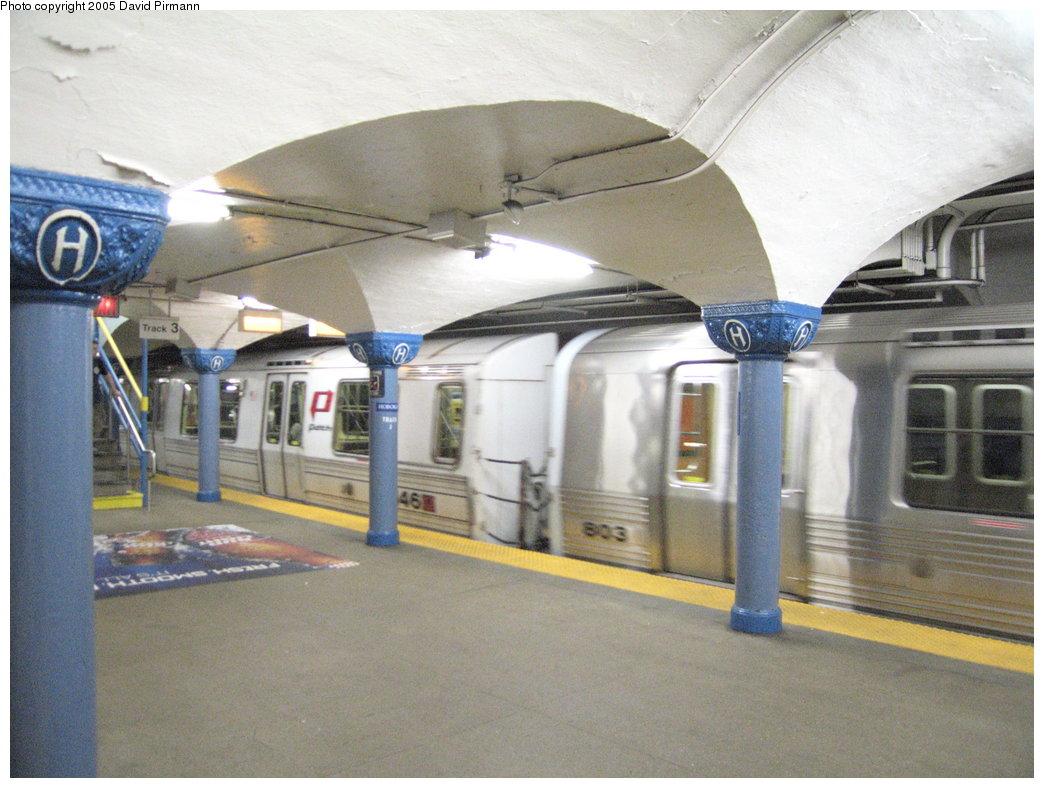 (177k, 1044x788)<br><b>Country:</b> United States<br><b>City:</b> Hoboken, NJ<br><b>System:</b> PATH<br><b>Location:</b> Hoboken <br><b>Car:</b> PATH PA-1 (St. Louis Car, 1965)  146 <br><b>Photo by:</b> David Pirmann<br><b>Date:</b> 6/30/2005<br><b>Viewed (this week/total):</b> 2 / 3640