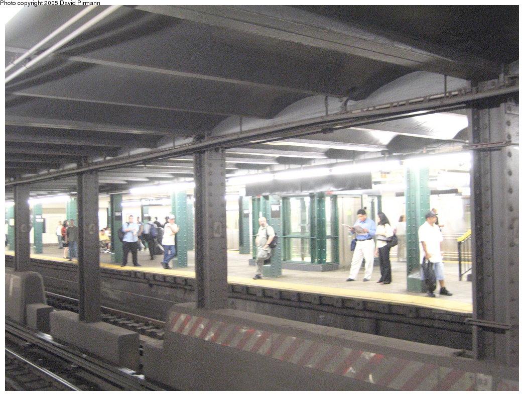 (207k, 1044x788)<br><b>Country:</b> United States<br><b>City:</b> New York<br><b>System:</b> New York City Transit<br><b>Line:</b> IND 6th Avenue Line<br><b>Location:</b> West 4th Street/Washington Square <br><b>Photo by:</b> David Pirmann<br><b>Date:</b> 6/30/2005<br><b>Notes:</b> View of the norhtbound platform<br><b>Viewed (this week/total):</b> 0 / 2754