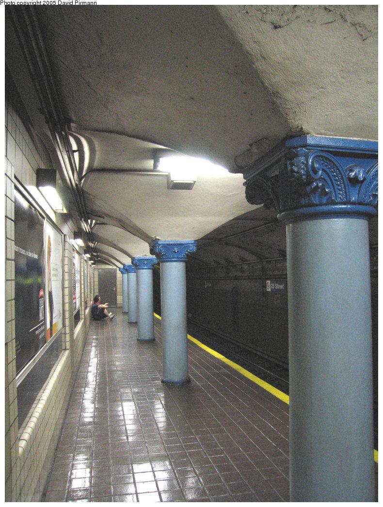 (240k, 790x1047)<br><b>Country:</b> United States<br><b>City:</b> New York<br><b>System:</b> PATH<br><b>Location:</b> 23rd Street <br><b>Photo by:</b> David Pirmann<br><b>Date:</b> 6/30/2005<br><b>Notes:</b> Southbound platform<br><b>Viewed (this week/total):</b> 0 / 2795